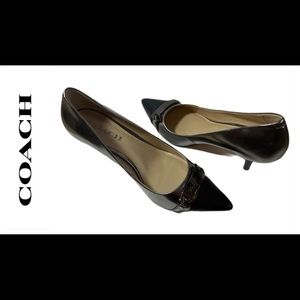COACH Bowery Black And Silver Pumps